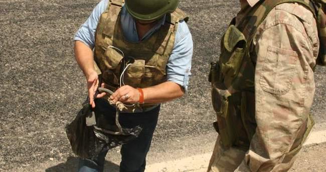 Mardin'de yol kenarında bulunan patlayıcı imha edildi