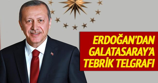 Erdoğan Galatasaray'ı tebrik etti