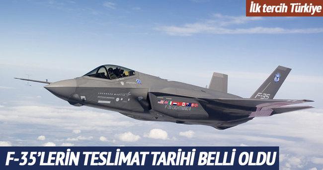 F-35 savaş uçaklarının teslimat tarihi belli oldu