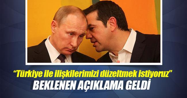 'Türkiye ile ilişkileri düzeltmek istiyoruz'
