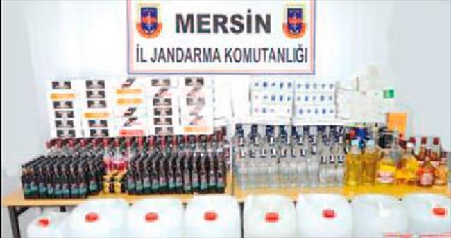 Mersin'de içki ve sigara kaçakçılarına darbe