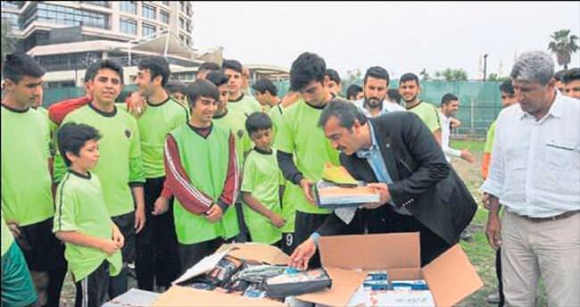Başkan Çetin'den malzeme desteği