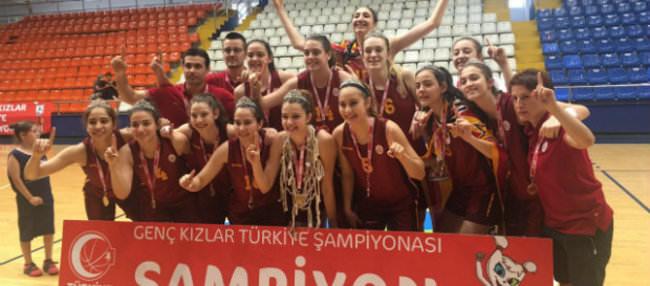 Galatasaray'ın genç kızları Türkiye Şampiyonu