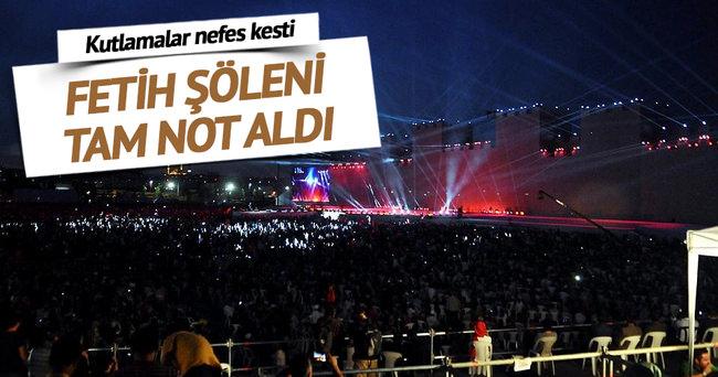 Fetih Şöleni İstanbullulardan tam not aldı
