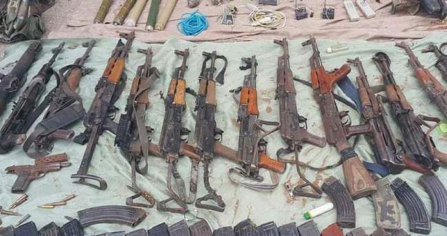 Çok sayıda teröristin teslim olduğu Nusaybin'de cephanelik bulundu