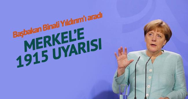 Merkel Başbakan Binali Yıldırım'ı tebrik etti