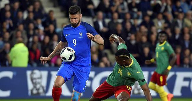 Fransa, özel maçta Kamerun'u 3-2 yendi