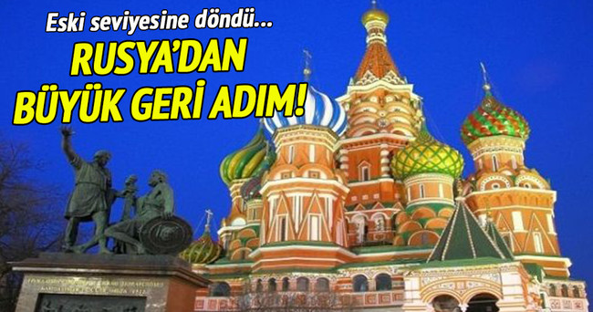 Rusya'dan geri adım!