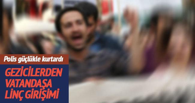 'Gezi' olaylarının 3. yıldönümünde, eylemcilerden vatandaşa linç girişimi