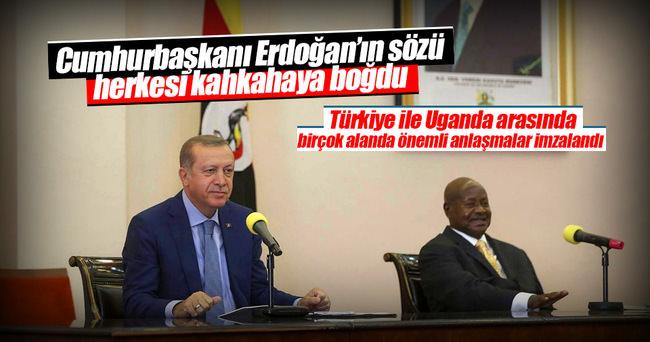 Erdoğan ve Museveni ortak basın toplantısı düzenledi