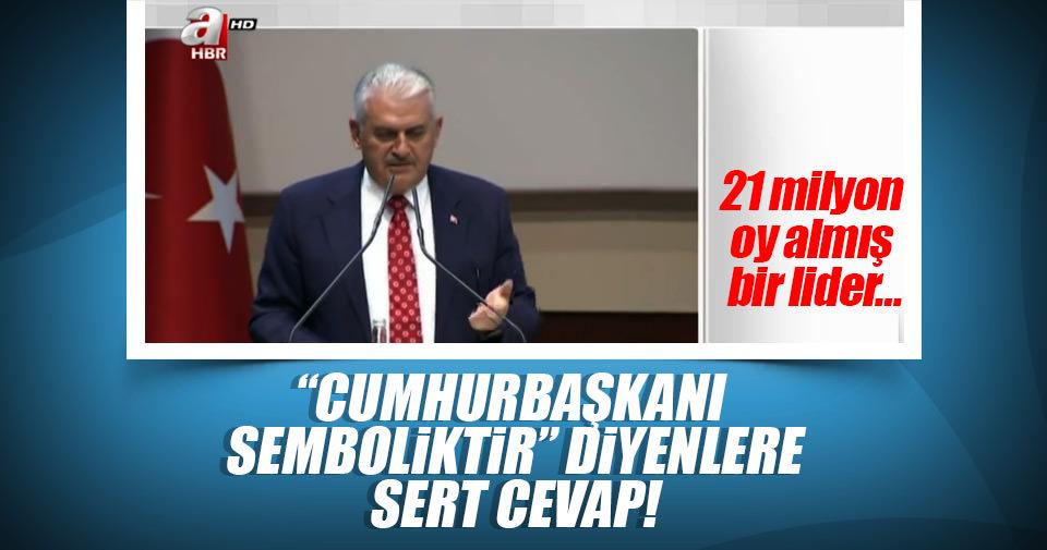 Başbakan Yıldırım'dan sert cevap