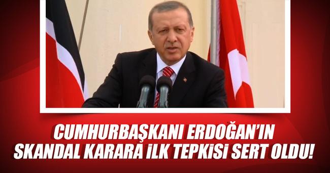 Cumhurbaşkanı Erdoğan'dan Almanya'nın skandal kararına ilk tepki