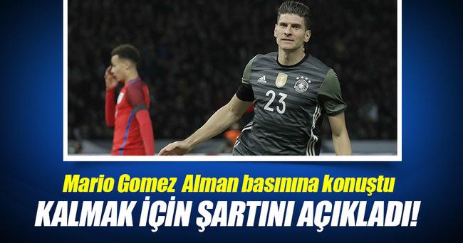 Mario Gomez'den net mesaj: Kaybetmek istemiyorum