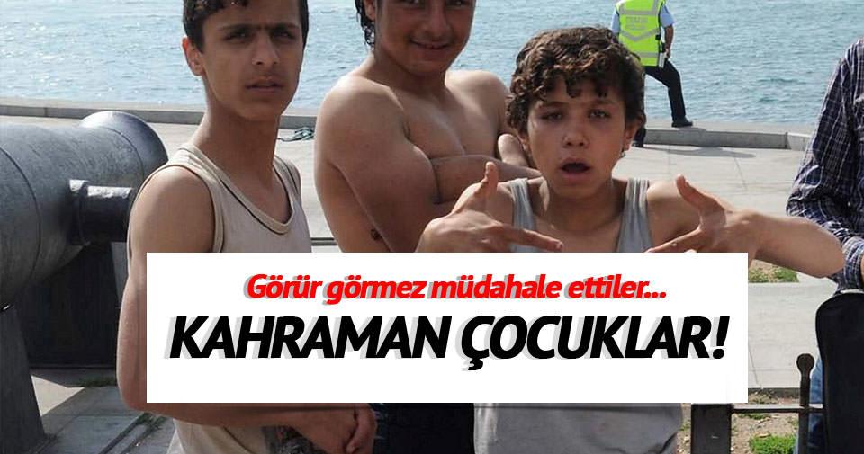 Suriyeli çocuklar Beşiktaş'ta hayat kurtardı