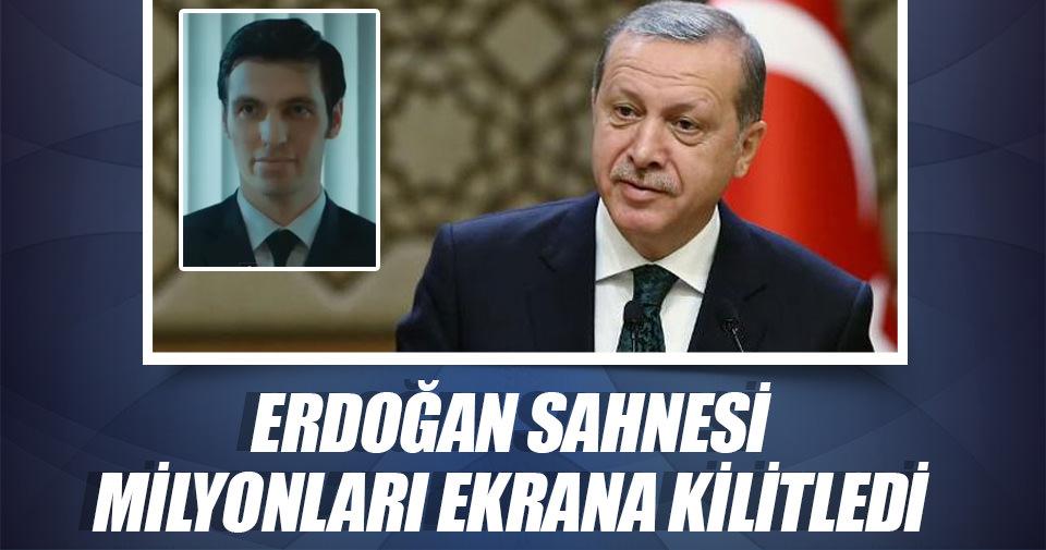 Erdoğan sahnesi milyonları ekrana kilitledi