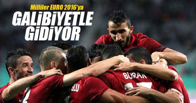 Milliler EURO 2016'ya galibiyetle gidiyor