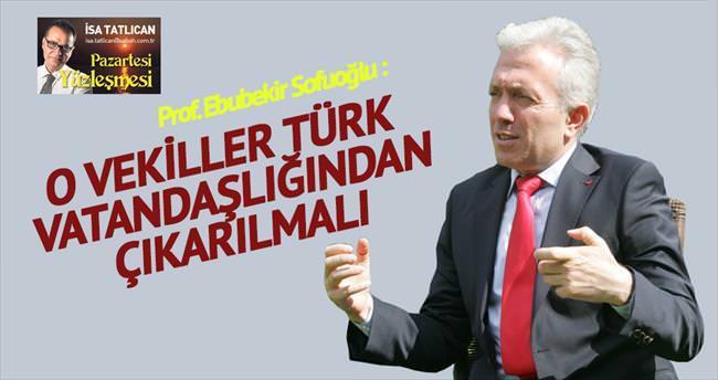'O milletvekilleri Türk vatandaşlığından çıkarılsın'