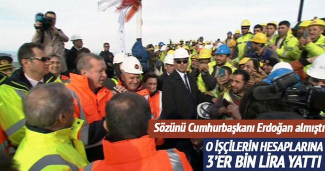 3. Köprü çalışanlarına ikramiyeleri dağıtıldı