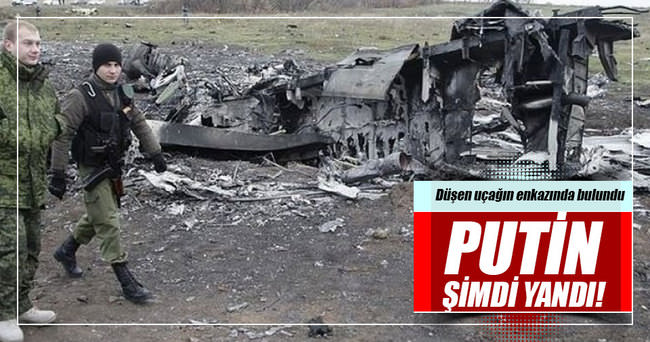 Düşen uçağın enkazında Rus yapımı füze