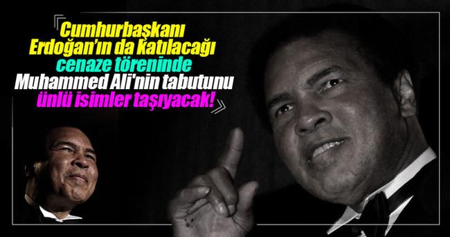 Muhammed Ali'nin tabutunu ünlü isimler taşıyacak