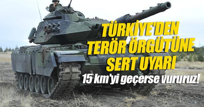 Türkiye'den PYD'ye uyarı!