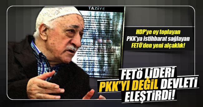 FETÖ lideri PKK'y�� değil devleti eleştirdi