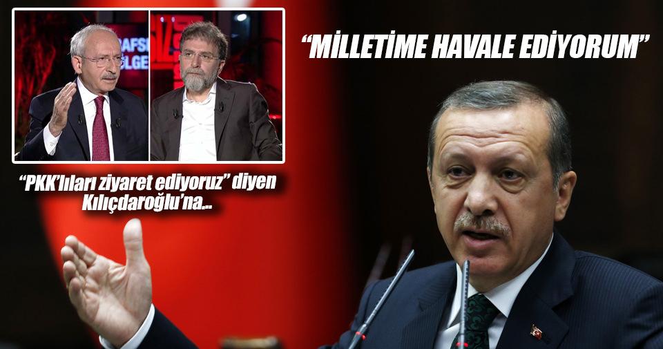 Cumhurbaşkanı'ndan CHP liderine tepki: Millet gereken dersi verir