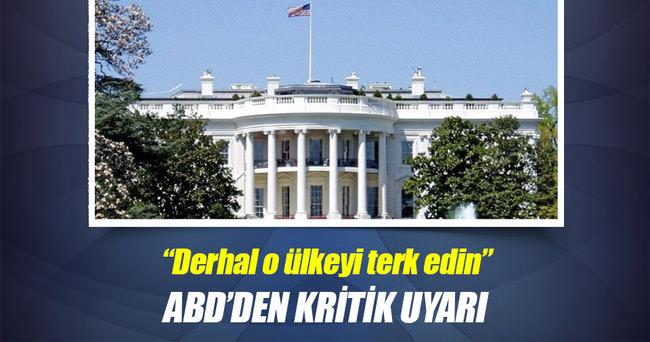ABD'den vatandaşlarına Libya uyarısı