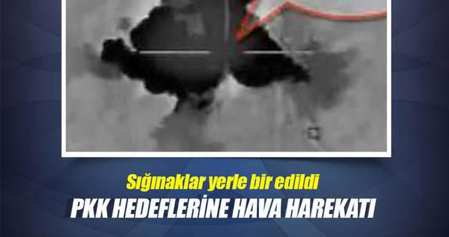 PKK barınakları hava harekatıyla imha edildi