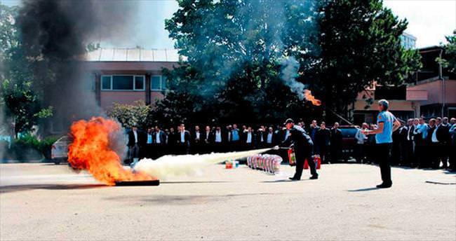 EGO şoförlerine yangın tatbikatı