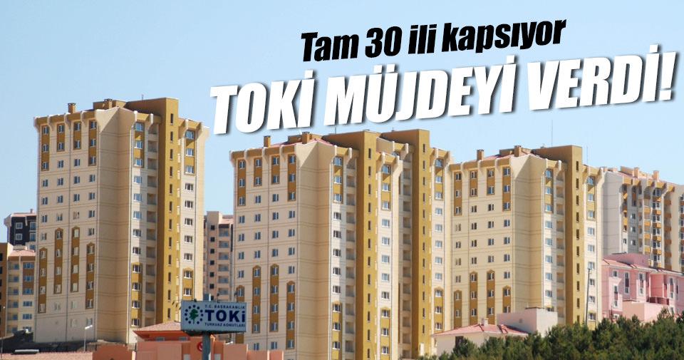 TOKİ'den 30 ilde 2 bin 574 konutluk açık satış