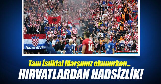 Hırvatlardan İstiklal Marşımıza büyük terbiyesizlik!