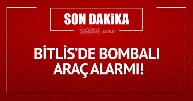 Bitlis'te bomba yüklü araç durduruldu