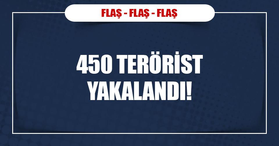 450 DAEŞ üyesi gözaltına alındı!