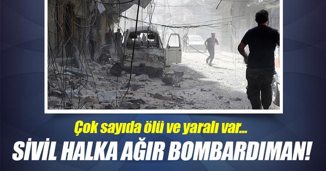 Suriye'de varil ve vakum bombalı saldırı!