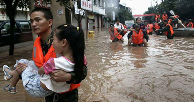Çin'de şiddetli yağışlar