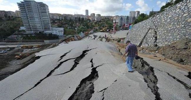 Ankara'da yolun çökmesine neden olan firmaya para cezası