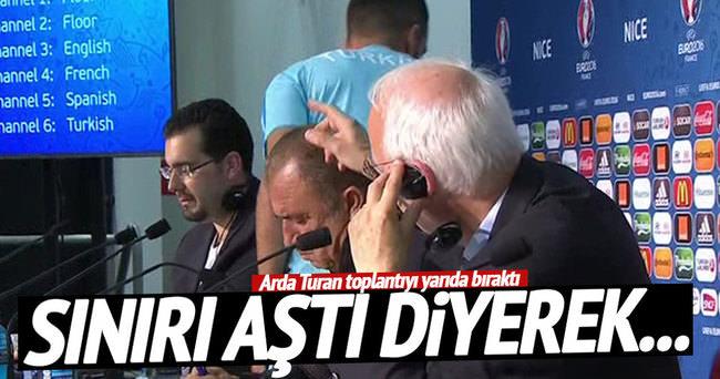Arda Turan basın toplantısından erken ayrıldı