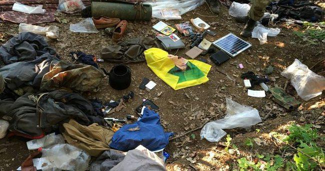 15 sığınakta yaşam malzemeleri ele geçirildi