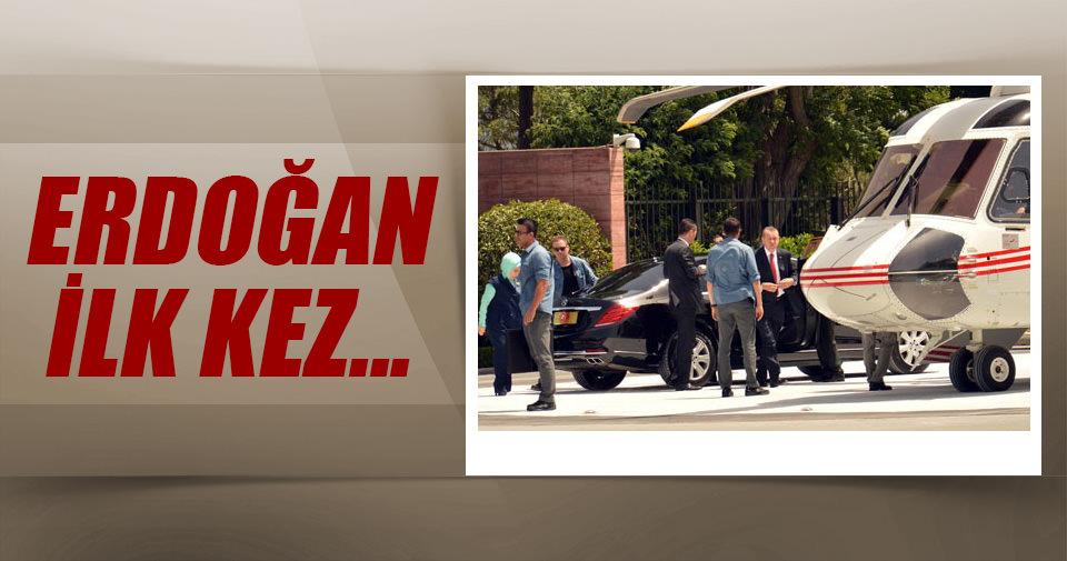 Erdoğan yeni pisti ilk kez kullandı