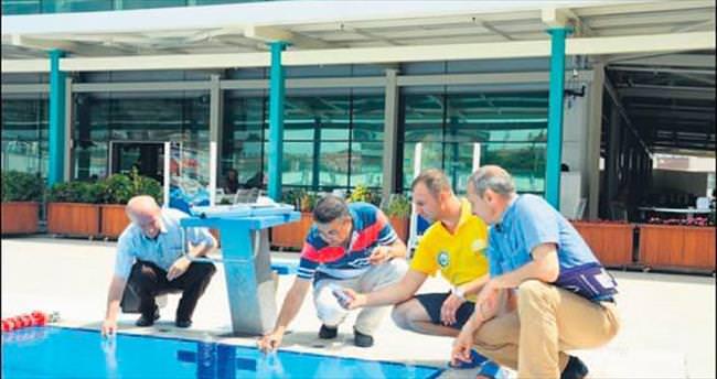 Bursa'da yüzme havuzları mercek altına alındı