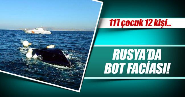 Rusya'da bot faciası: 11'i çocuk 12 kişi öldü!