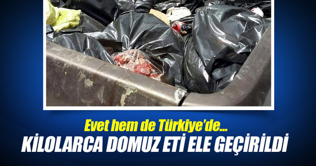 Çanakkale'de 328 kilo domuz eti ele geçirildi