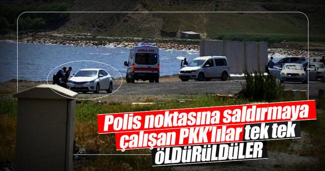 Tatvan'da polis noktasına saldırı: 3 PKK'lı terörist öldürüldü