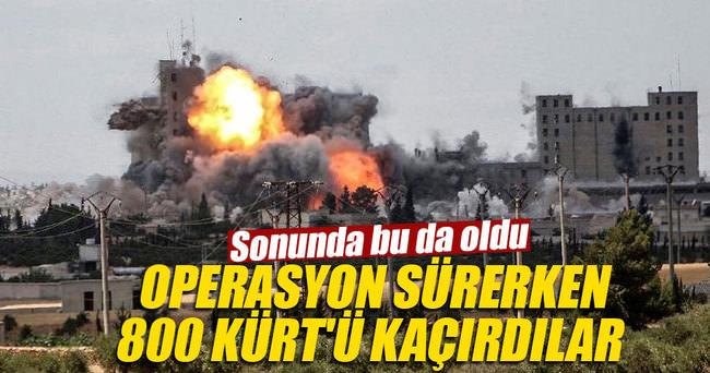 Münbiç Operasyonu sürerken, DAEŞ 800 sivil Kürt'ü kaçırdı