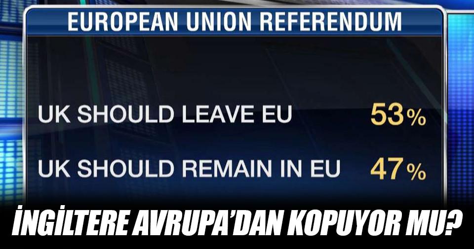 İngiltere'deki referandumda son durum