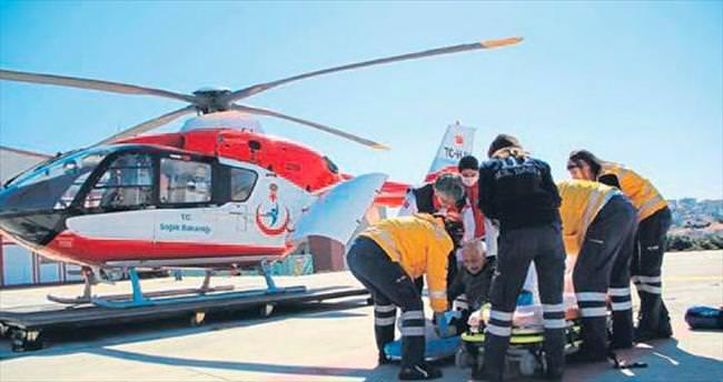 Havalı ambulans can kurtarıyor