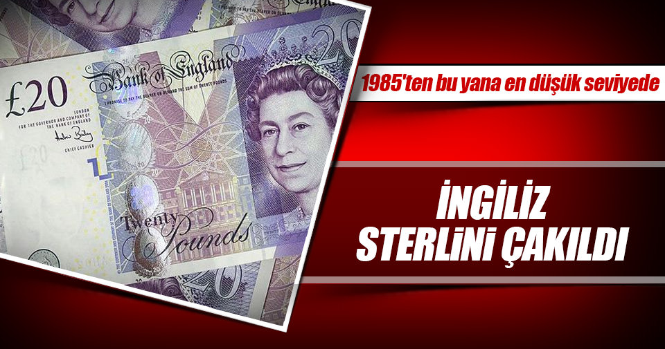 İngiliz Strelini 1985'teki seviyesine indi
