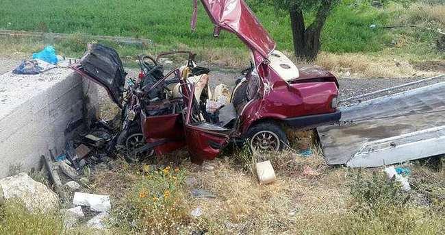 Afyonkarahisar'da trafik kazası; 4 ölü, 1 yaralı