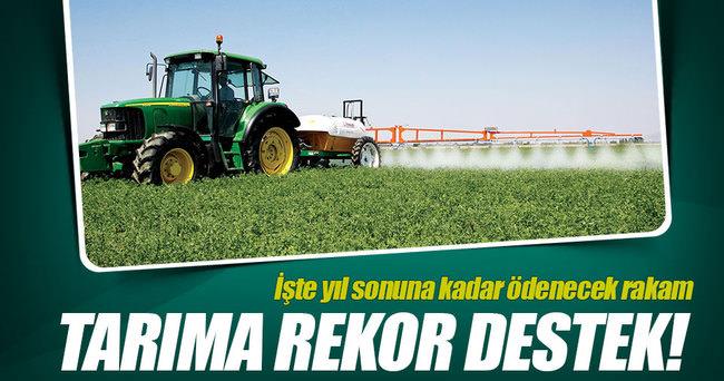 Tarımda 8 milyar liralık destek ödendi
